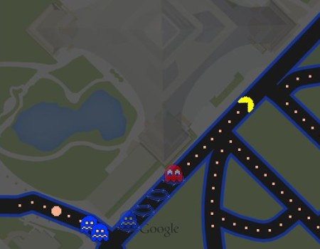 Internet Fun With Tatiana: PAC-MAN in Google Maps
